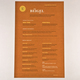 Classic Bagel Bakery Menu Template