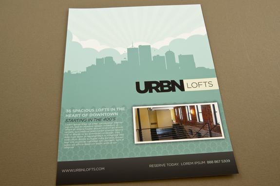 Contemporary Urban Lofts Flyer Template  Inkd