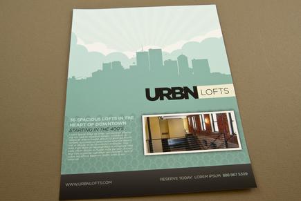 Contemporary Urban Lofts Flyer Template – Contemporary Flyer