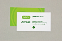 Environmental Advisor Business Card Template