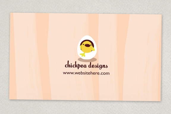 chic baby clothes business card template