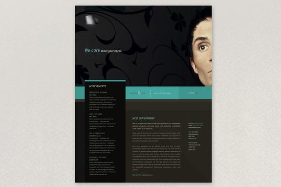 classy law firm flyer template inkd
