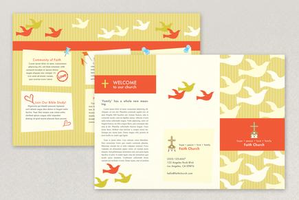 church brochures templates - bright community church brochure template inkd