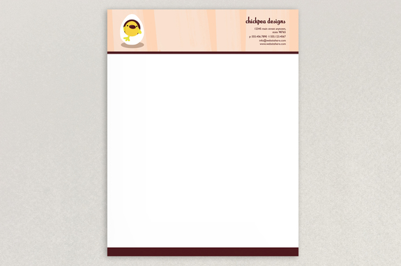 chic baby clothes letterhead template inkd