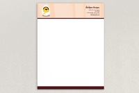 Chic Baby Clothes Letterhead Template