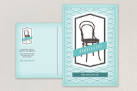 Mint Vintage Furniture Store Postcard Template