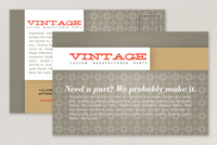 Vintage Pattern Postcard Template