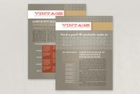 Vintage Pattern Datasheet Template