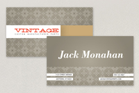 Vintage Pattern Business Card Template
