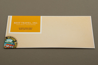 Travel Stamp Envelope Template
