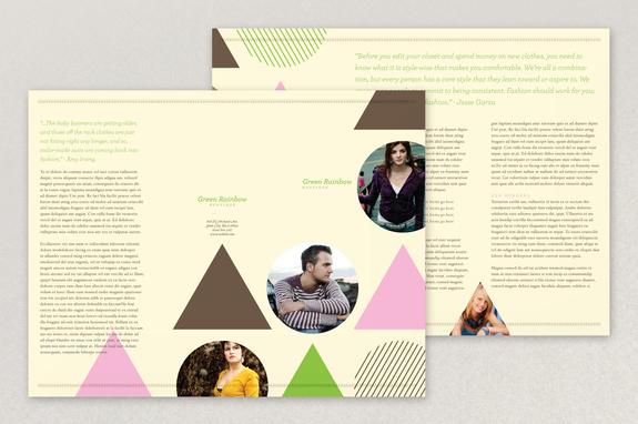 Trendy Boutique Brochure Template | Inkd