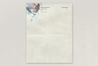 Splattered Snowboard Shop Letterhead Template