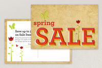 Spring Sale Postcard Template