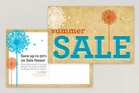 Summer Sale Postcard Template