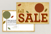 Autumn Sale Postcard Template