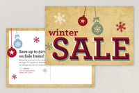 Winter Sale Postcard Template
