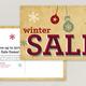 Winter Sale Postcard Template