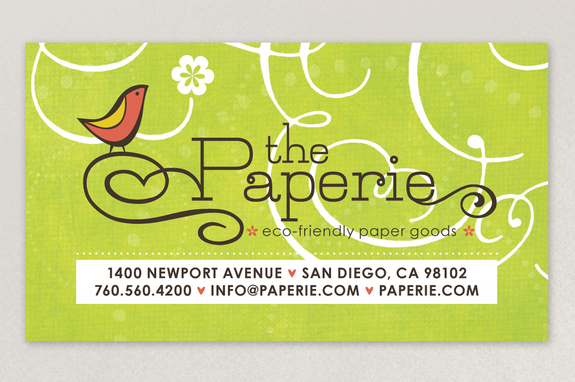 Paper Craft Store Business Card Template Inkd - Business card template paper