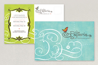 Paper Craft Store Postcard Template