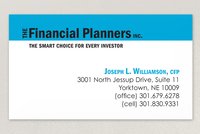 The Financial Planners Business Card Template