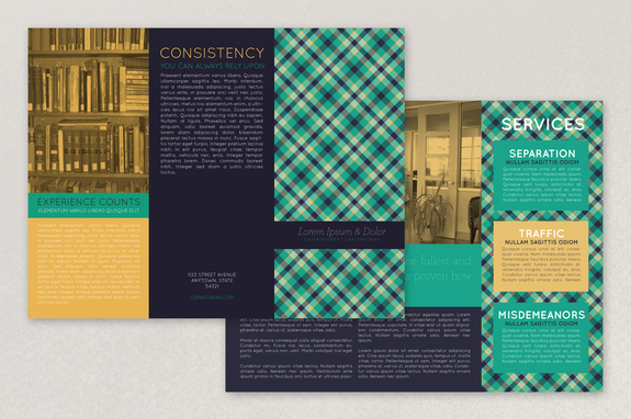 Plaid Law Firm Brochure Template | Inkd