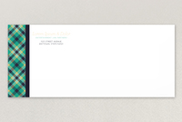 Plaid Law Firm Envelope Template