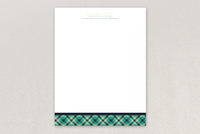 Plaid Law Firm Letterhead Template