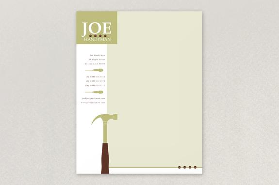 Joe handyman letterhead template inkd joe handyman letterhead template spiritdancerdesigns Images