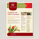Stylish Florist Datasheet Template