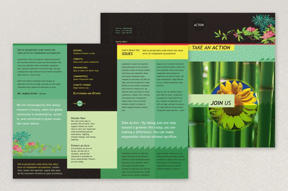 bright environmental non profit brochure template inkd