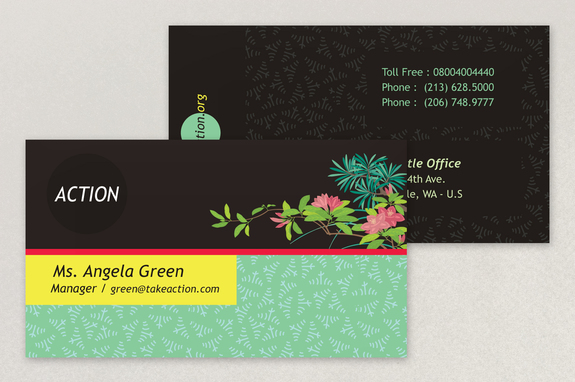 bright environmental non profit business card template - Non Profit Business Cards