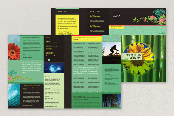 Bright Environmental Non Profit Newsletter Template  News Letter Formats