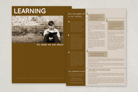 Education and Tutoring Datasheet Template