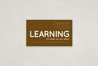 Education and Tutoring Business Card Template