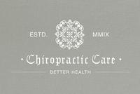 Chiropractor Practice Logo Template