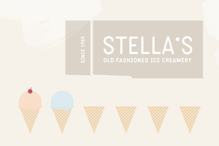 Graphic Ice Cream Shop Logo Template