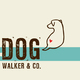 Dog Walking Logo Template