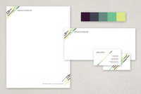 Beautiful Scenery Modern Stationery Templates Template