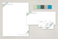 Central Modern Stationery Templates  Template