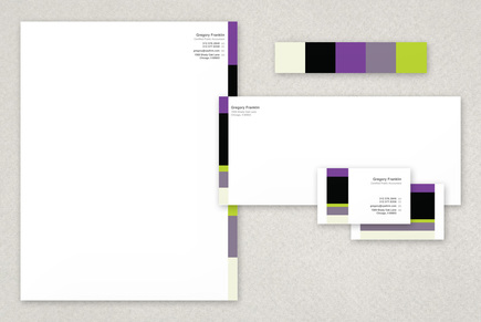 Sublime Rock N Roll Business Stationery Templates Template