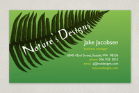 Nature's Designs Landscaping Business Card Template