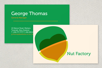 Nut Producer Business Card Template