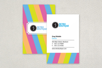 Retro Boutique Business Card Template