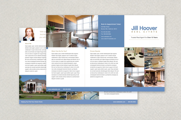 Real Estate Brochure Template Inkd - Real estate brochure templates