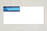 Blue Bar Technology Envelope Template