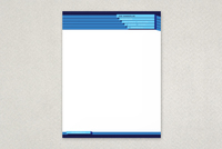 Blue Bar Technology Letterhead Template