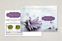 Trendy Flower Shop Postcard Template
