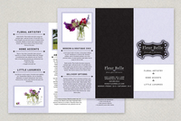 Floral & Gift Boutique Tri-Fold Brochure Template