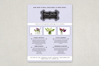 Floral & Gift Boutique Flyer Template