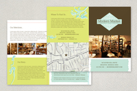 Modern Market Antique Shop Half-Fold Brochure Template